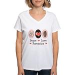 Peace Love Forensics Women's V-Neck T-Shirt