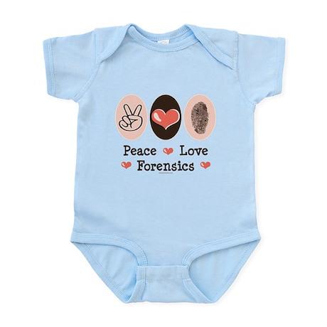 Peace Love Forensics Infant Bodysuit