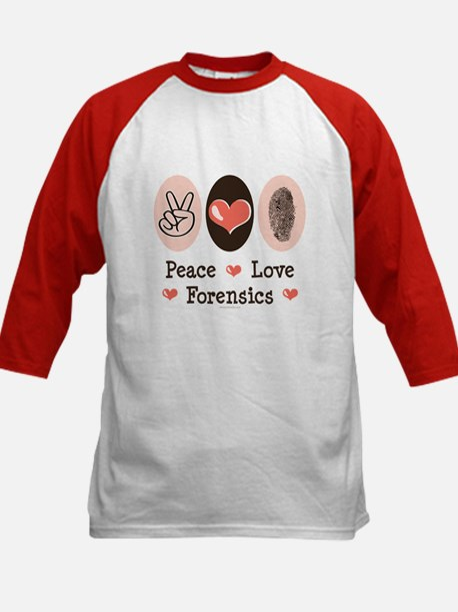 Peace Love Forensics Kids Baseball Jersey