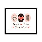 Peace Love Forensics Framed Panel Print