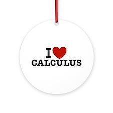 I Love Calculus Ornament (Round)