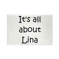 Funny Lina Rectangle Magnet