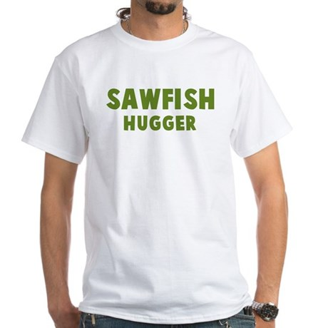 Sawfish Hugger White T-Shirt