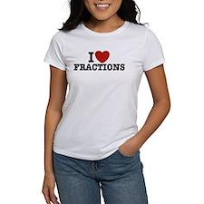 I Love Fractions Tee