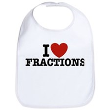 I Love Fractions Bib