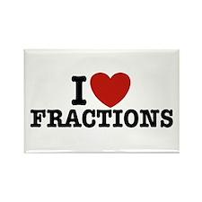 I Love Fractions Rectangle Magnet