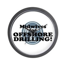 Midwives For Offshore Drilling Wall Clock
