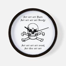 Arr arr arr Rum... Wall Clock