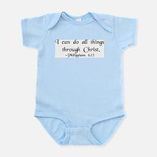 """""""Do All Things"""" Infant Bodysuit"""