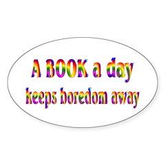 Book a Day Oval Sticker (50 pk)