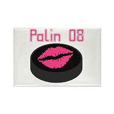 Palin Puck 08 Rectangle Magnet