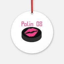 Palin Puck 08 Ornament (Round)