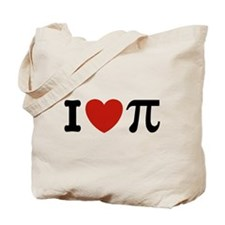 I Love Pi Tote Bag