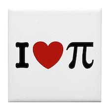 I Love Pi Tile Coaster