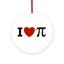 I Love Pi Ornament (Round)