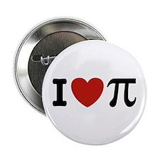 """I Love Pi 2.25"""" Button"""