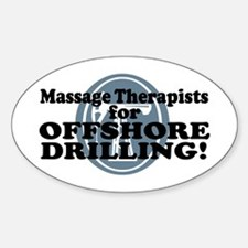 Massage Therapists For Offshore Drilling Decal