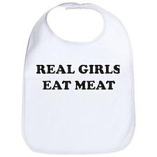 Real Girls Eat Meat Bib