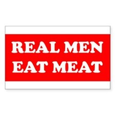 Real Men eat meat Rectangle Decal