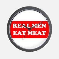 Real Men eat meat Wall Clock