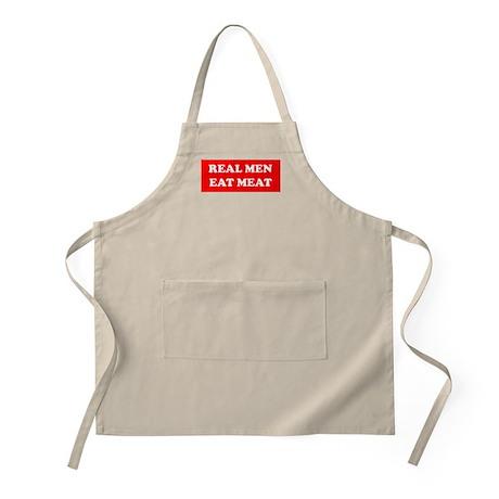 Real Men eat meat BBQ Apron