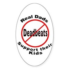 REAL DADS Oval Decal