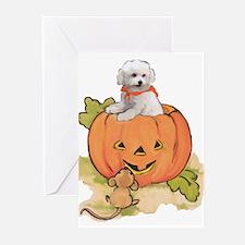Halloween Bichon Greeting Cards (Pk of 10)