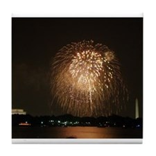 4th of July Fireworks, DC Tile Coaster