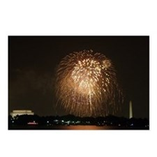 4th of July Fireworks, DC Postcards (Package of 8)