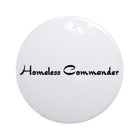 Homeless Commander Ornament (Round)