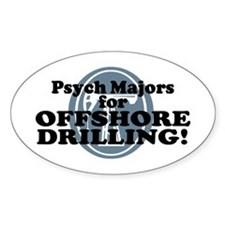 Psych Majors For Offshore Drilling Oval Decal