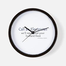 Call an electrician Wall Clock