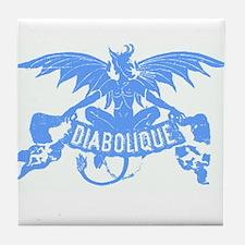 BLUE Halloween DEVIL Art Tile ~ Glossy Coaster