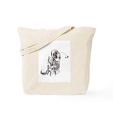 Catoons tuba cat Tote Bag