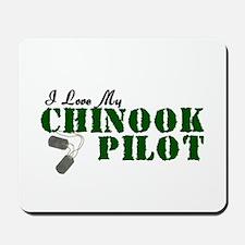 I Love My Chinook Pilot Mousepad