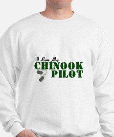 I Love My Chinook Pilot Sweatshirt