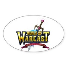 World of Warcast Oval Decal