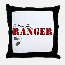 I Love My Ranger Throw Pillow