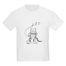 Catoons harmonica cat T-Shirt