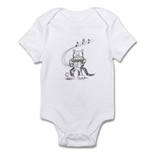 Catoons harmonica cat Infant Bodysuit