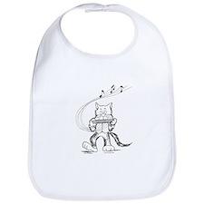 Catoons harmonica cat Bib