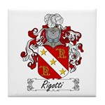 Rigotti Family Crest Tile Coaster