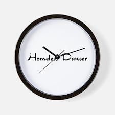 Homeless Dancer Wall Clock