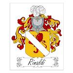 Rinaldi Family Crest Small Poster