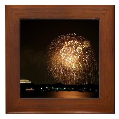 4th of July Fireworks, DC Framed Tile