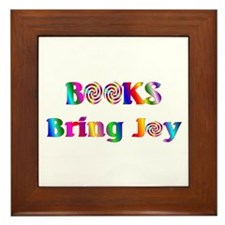 Books Bring Joy Framed Tile