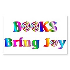 Books Bring Joy Rectangle Decal