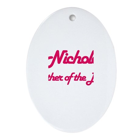 Nichole - Mother of Bride Oval Ornament