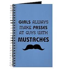 Funny Retro Mustache Journal