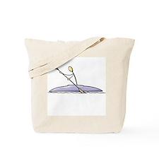 Stick figure kayak Tote Bag